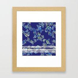 Butterfly Blue Framed Art Print