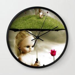 Eve's Umbrella Wall Clock