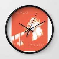 lou reed Wall Clocks featuring Lou Reed May He Rest In Peace by JennFolds5 * Jennifer Delamar-Goss