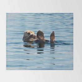 Sea Otter Throw Blanket