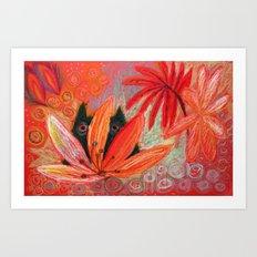red jungle Art Print