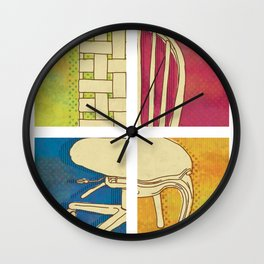 Take a Seat Wall Clock