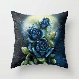 Night Roses Throw Pillow