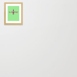 K-Poppin' Framed Art Print
