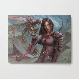 Mantis Warden Metal Print