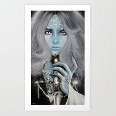 Alien warrior girl Art Print