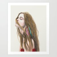 wind Art Prints featuring The Wind by Carlos ARL