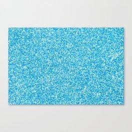 Blue Glitter Canvas Print