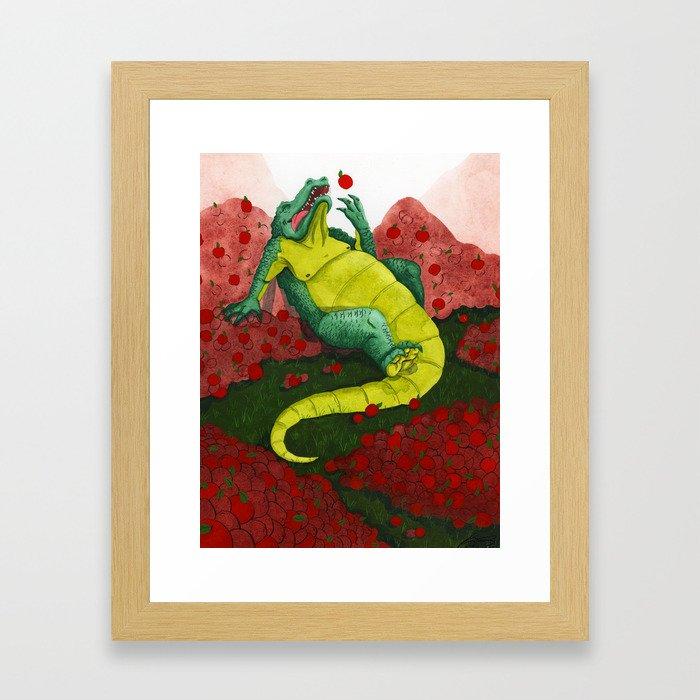 Allison's Alligator Framed Art Print
