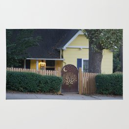 Yellow House with Moon Gate Rug