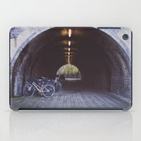 bicycles iPad Cases featuring Bicycles by Megan Curran