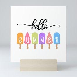 Hello Summer Ice Crime Mini Art Print