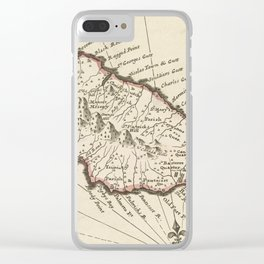Vintage Map of Saint Kitts (1732) Clear iPhone Case