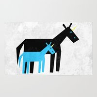 dad Area & Throw Rugs featuring Thanks Dad by That's So Unicorny