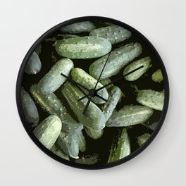 Cool Cukes! Wall Clock