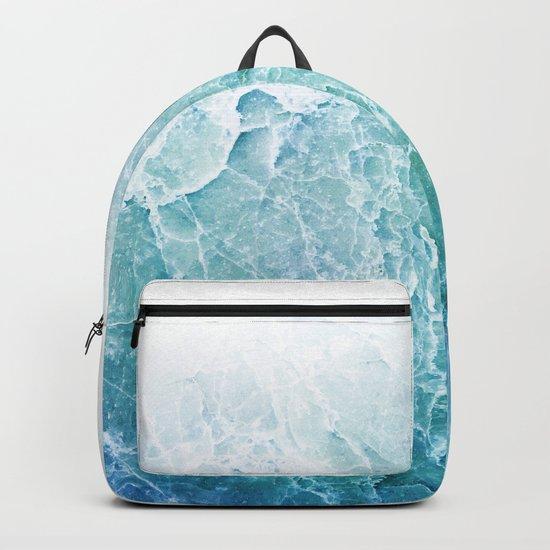 Sea Dream Marble - Aqua and blues Backpack