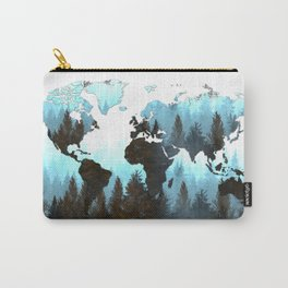 world map forest Carry-All Pouch