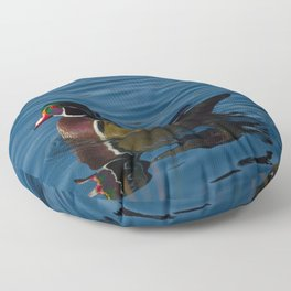 Colorful Wood Duck Floor Pillow