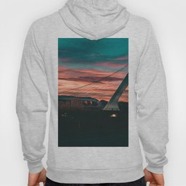 Sunset Train Street Photography Hoody