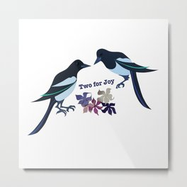 Two magpies Metal Print