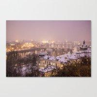 prague Canvas Prints featuring Prague 3 by Veronika