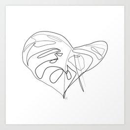 """Botanical Collection"" -  Monstera Deliciosa Print Art Print"