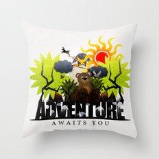 Adventure Awaits You Throw Pillow