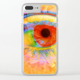 Eye In Bloom Clear iPhone Case