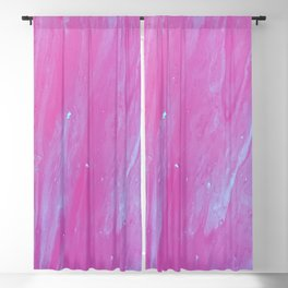 Hot Pink Marble Blackout Curtain