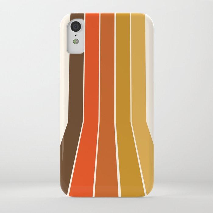 Righteous - 70s style throwback rainbow art 1970s minimalist art iPhone Case