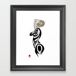 INCOGNITO (white background) Framed Art Print
