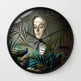 Eve in the Garden II Wall Clock