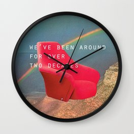 We've been around for over two decades (Red chair and the Grand Canyon) Wall Clock