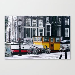 AMSTERDAM / Winter Canvas Print