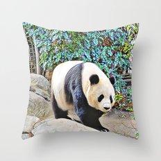 Panda at the San Diego zoo Throw Pillow