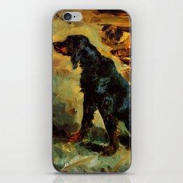 """Henri de Toulouse-Lautrec """"Dun, a Gordon Setter Belonging to Comte Alphonse de Toulouse Lautrec"""" iPhone Skin"""