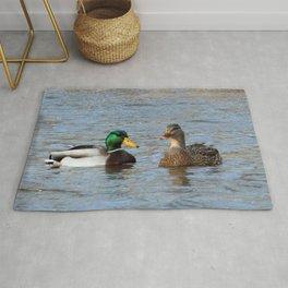 A Pair of Mallard Ducks Rug