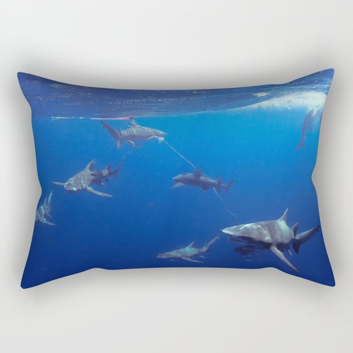 Shark Squad Rectangular Pillow