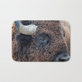 In The Presence Of Bison Bath Mat