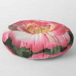 Multi-Hued Rose Floor Pillow