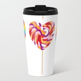 lollipops, colorful spiral candy cane with twisted design Travel Mug