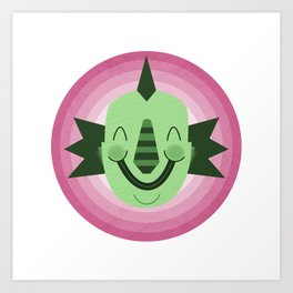 Crawford the Happy Creature Art Print