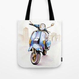 Azzurro Vespa (Motocicletalia) Tote Bag
