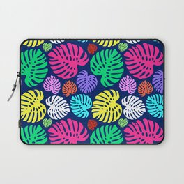 Simply Monstera in Multi + Navy Laptop Sleeve