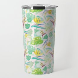 Birds of Paradise Pattern Travel Mug