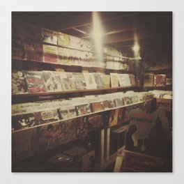 The Record Store Canvas Print