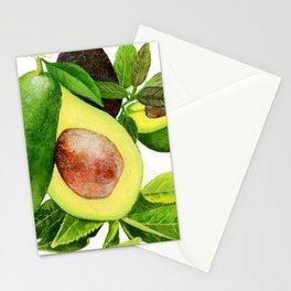 Avocado and its blossom Stationery Cards