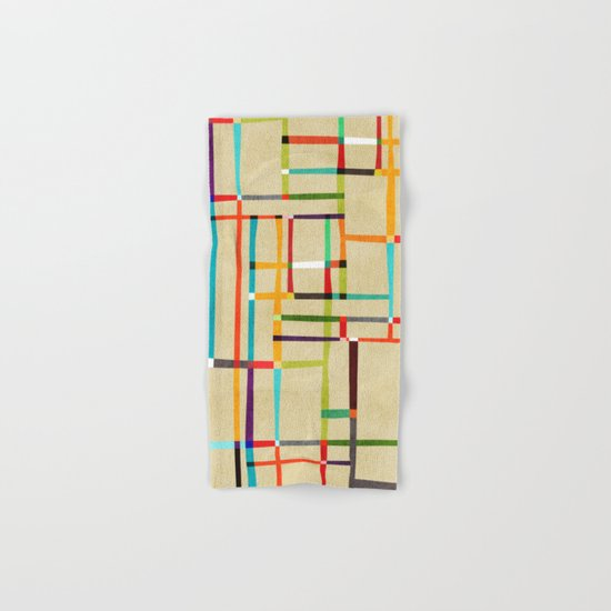 The map (after Mondrian) Hand & Bath Towel