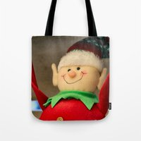dentist Tote Bags featuring I wanna be a dentist but my arms are too floppy! by IowaShots
