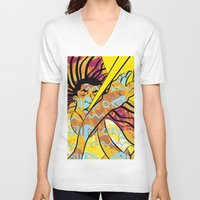 jazz V-neck T-shirts featuring Jazz by Sanfeliu